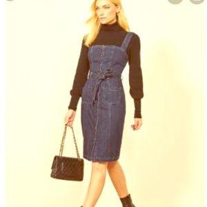 Reformation denim dress size 2 NEW TAGS